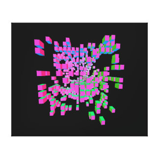 structural abstraction canvas prints
