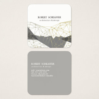 Structural Design Minimalist Modern Geometric Square Business Card