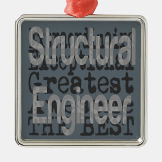 Structural Engineer Extraordinaire Silver-Colored Square Decoration