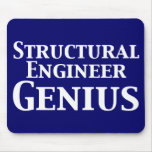 Structural Engineer Genius Gifts Mouse Pad