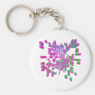 structural integrity basic round button key ring
