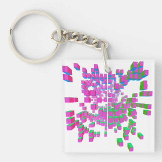 structural integrity Single-Sided square acrylic keychain