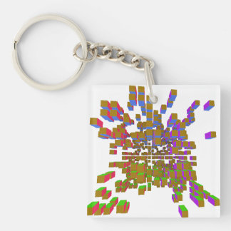 structural integrity Single-Sided square acrylic key ring