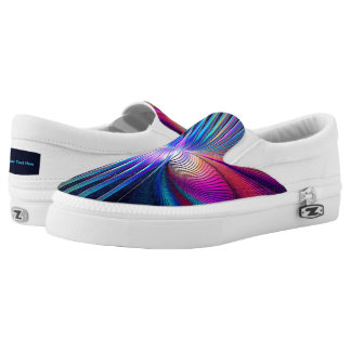 Structural Iridescence Slip-On Shoes