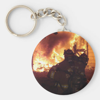 Structure Fire Basic Round Button Key Ring