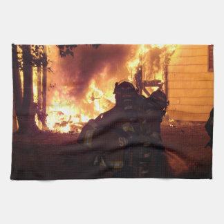 Structure Fire Tea Towel