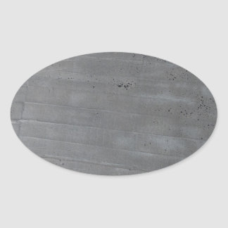 Structure of cement oval sticker