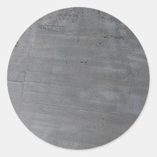 Structure of cement round sticker