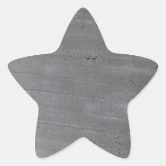 Structure of cement star sticker