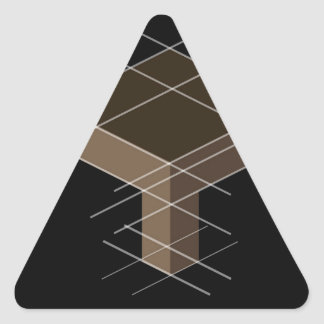 Structure with reference lines triangle sticker