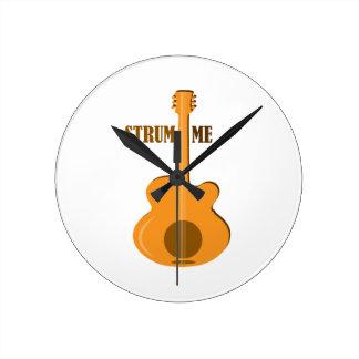 Strum Me Round Clocks