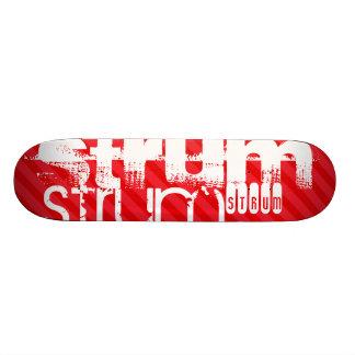 Strum; Scarlet Red Stripes 21.6 Cm Skateboard Deck