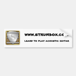 strumbox bump bumper sticker