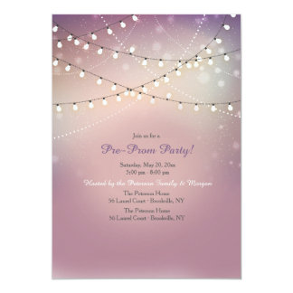 Strung Lights Pre-Prom Party Invitation