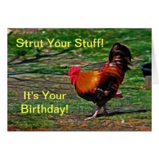 Strut Your Stuff - It's Your Birthday!  Card