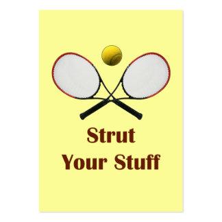 Strut Your Stuff Tennis Business Card
