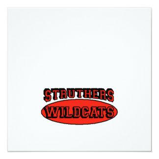 Struthers Wildcats 13 Cm X 13 Cm Square Invitation Card
