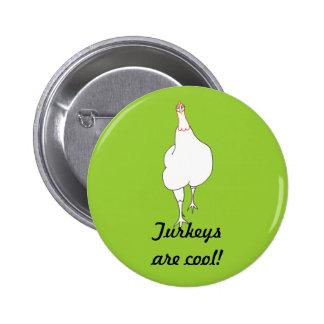 Strutting Turkey Turkeys are cool buttons Pin