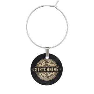 Strychnine Vintage Style Poison Label Wine Charm