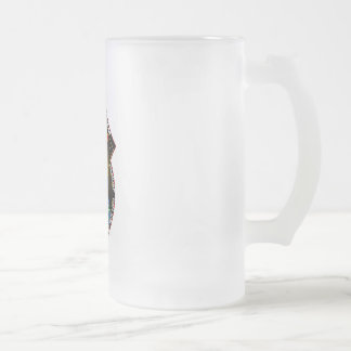 sts129 SPACE SHUTTLE 16 Oz Frosted Glass Beer Mug