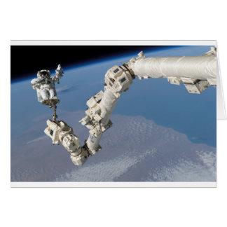 STS-114_Steve_Robinson_on_Canadarm2.jpg Greeting Card