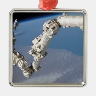 STS-114_Steve_Robinson_on_Canadarm2.jpg Silver-Colored Square Decoration