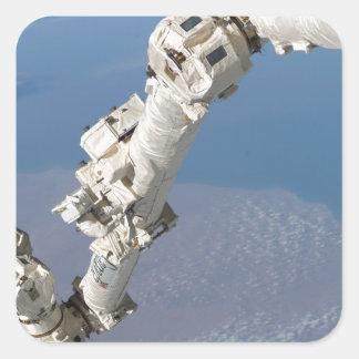 STS-114_Steve_Robinson_on_Canadarm2.jpg Square Sticker