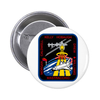 STS 118 Mission Patch 6 Cm Round Badge