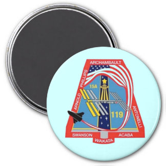 STS-119 nasa space shuttle 7.5 Cm Round Magnet