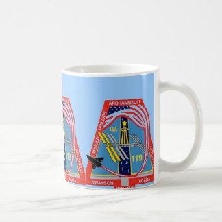 STS-119 nasa space shuttle Basic White Mug