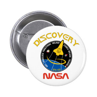 STS 120 Discovery 6 Cm Round Badge