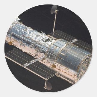 STS-125 Atlantis Hubble Round Sticker