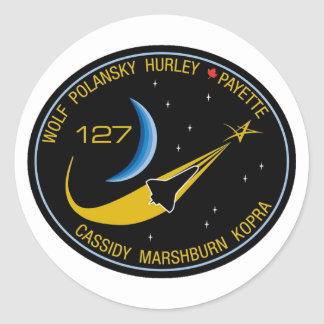 STS-127 Mission Patch Classic Round Sticker