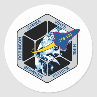 STS 130 Endeavour Classic Round Sticker