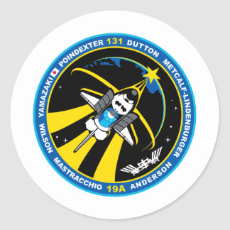 STS 131 Discovery Classic Round Sticker