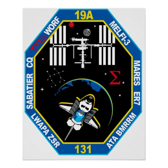 STS 131 Payload Group Patch Poster