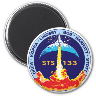STS-133 Discovery 6 Cm Round Magnet