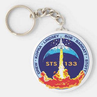 STS-133 Discovery Basic Round Button Key Ring