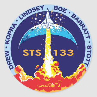 STS-133 Discovery Classic Round Sticker