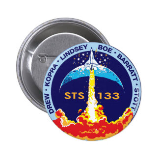 STS-133 Discovery Pinback Buttons