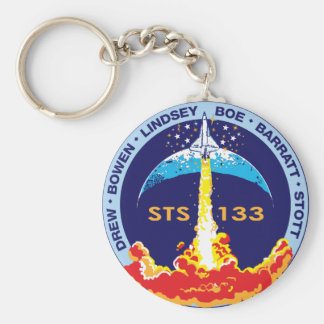 STS-133 mission patch Basic Round Button Key Ring