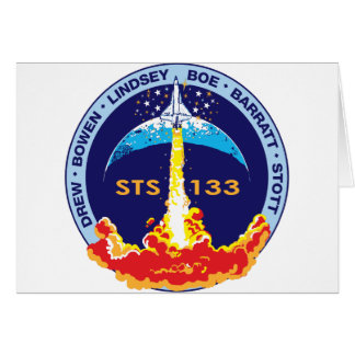 STS-133 mission patch Greeting Card