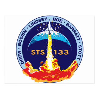 STS-133 mission patch Postcard