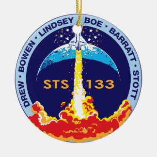 STS-133 mission patch Round Ceramic Decoration