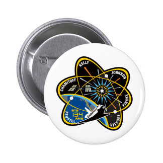 STS 134 Endeavour 6 Cm Round Badge
