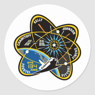 STS 134 Endeavour Round Sticker
