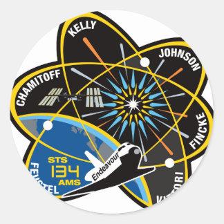 STS 134 Endeavour Round Sticker