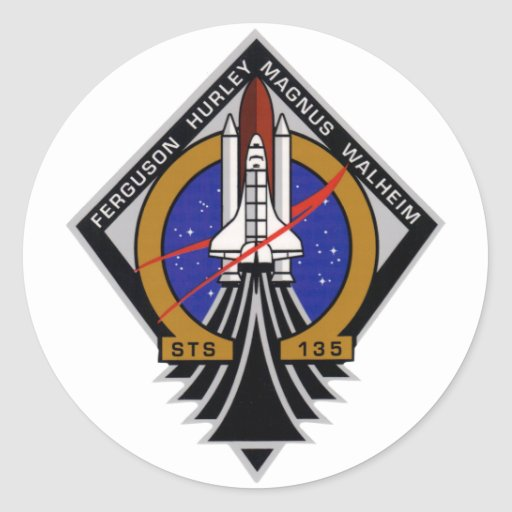 STS 135 Last Flight of Atlantis Stickers