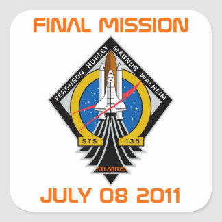 STS-135 Patch Final Mission July 08 2011 Stickers