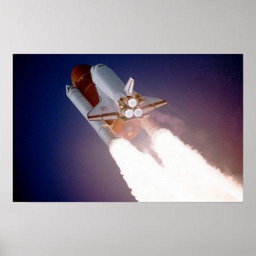 STS-27, Orbiter Atlantis, Liftoff Poster